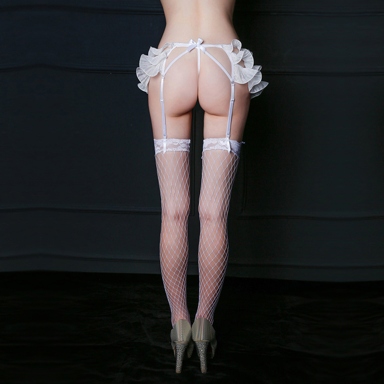 2020 Lace White Garter Suspender Belt
