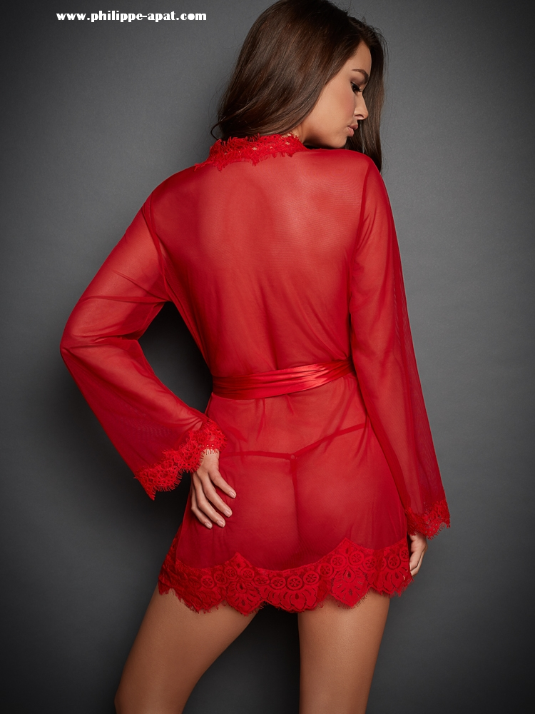 Chemise-de-Nuit-Rouge-Femme-Sexy-22884-3-2018-2019 Nwizat Philippe Apat