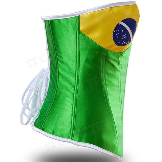 Corset Drapeau Bresilien coupe du monde 2014
