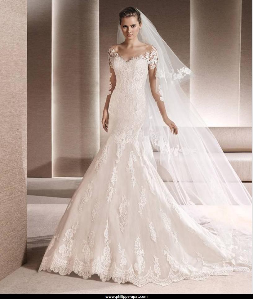 b8b5068ae9a Modèle de robe de mariée en dentelle robes de mariéé