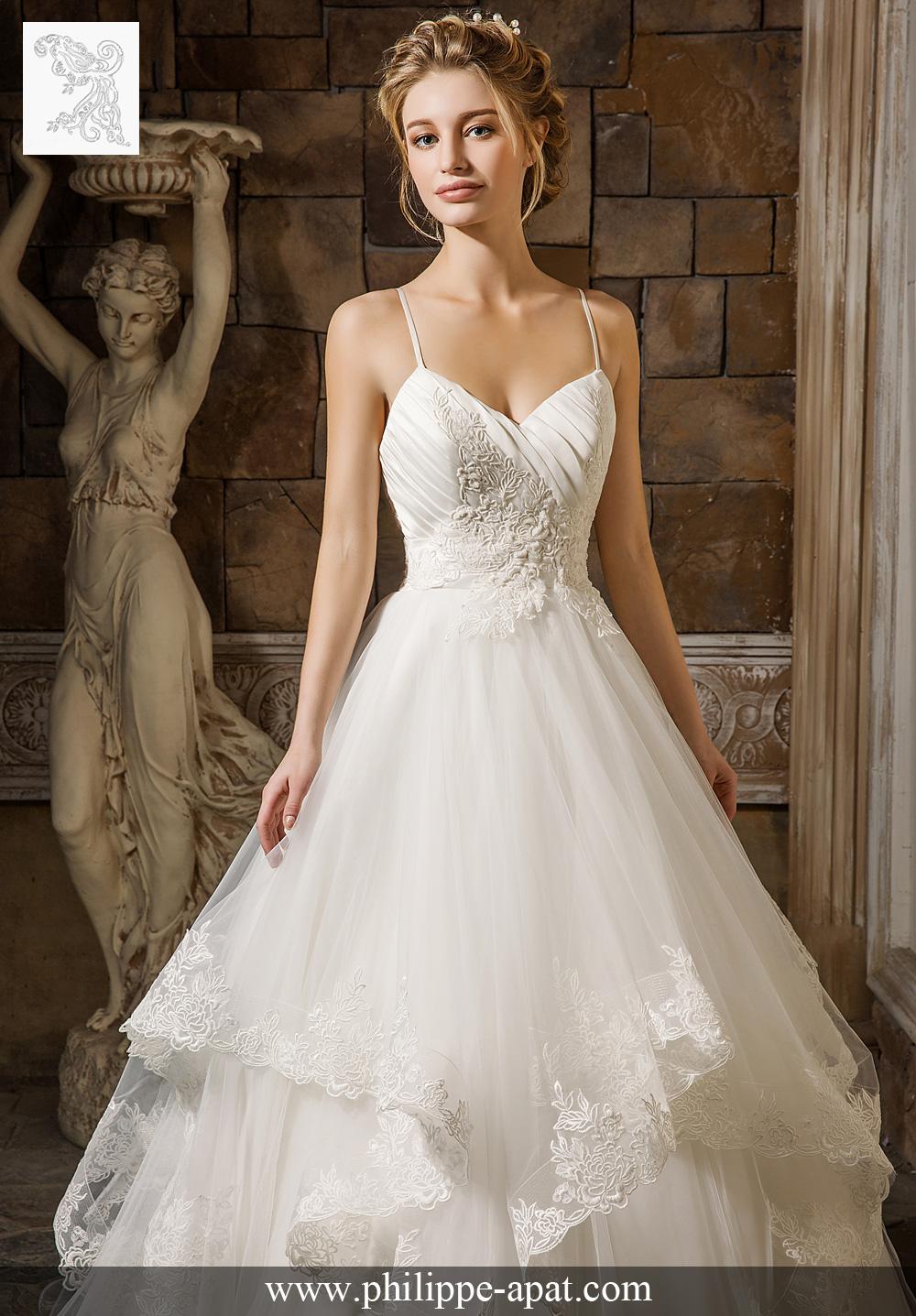 robe de mariée coralia 2017 robe de mariée à fines bretelles en ...