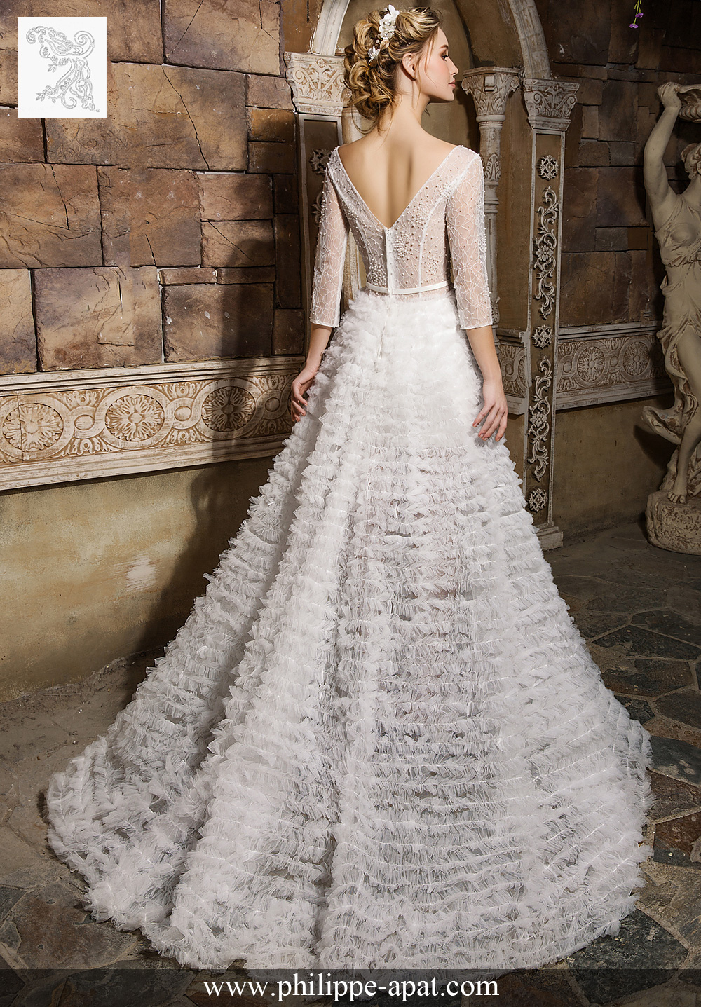 Robe blanche 2017 transparent bustier 2018 Philippe Apat