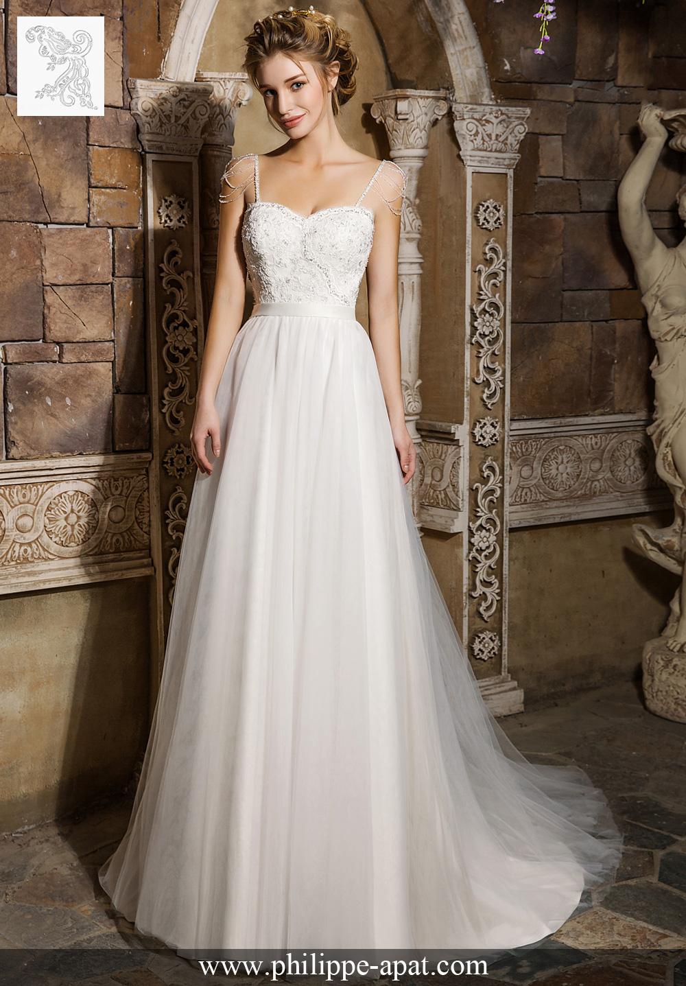 robe de mariée cyn 2017 robe de mariée à épaulettes sur fines ...