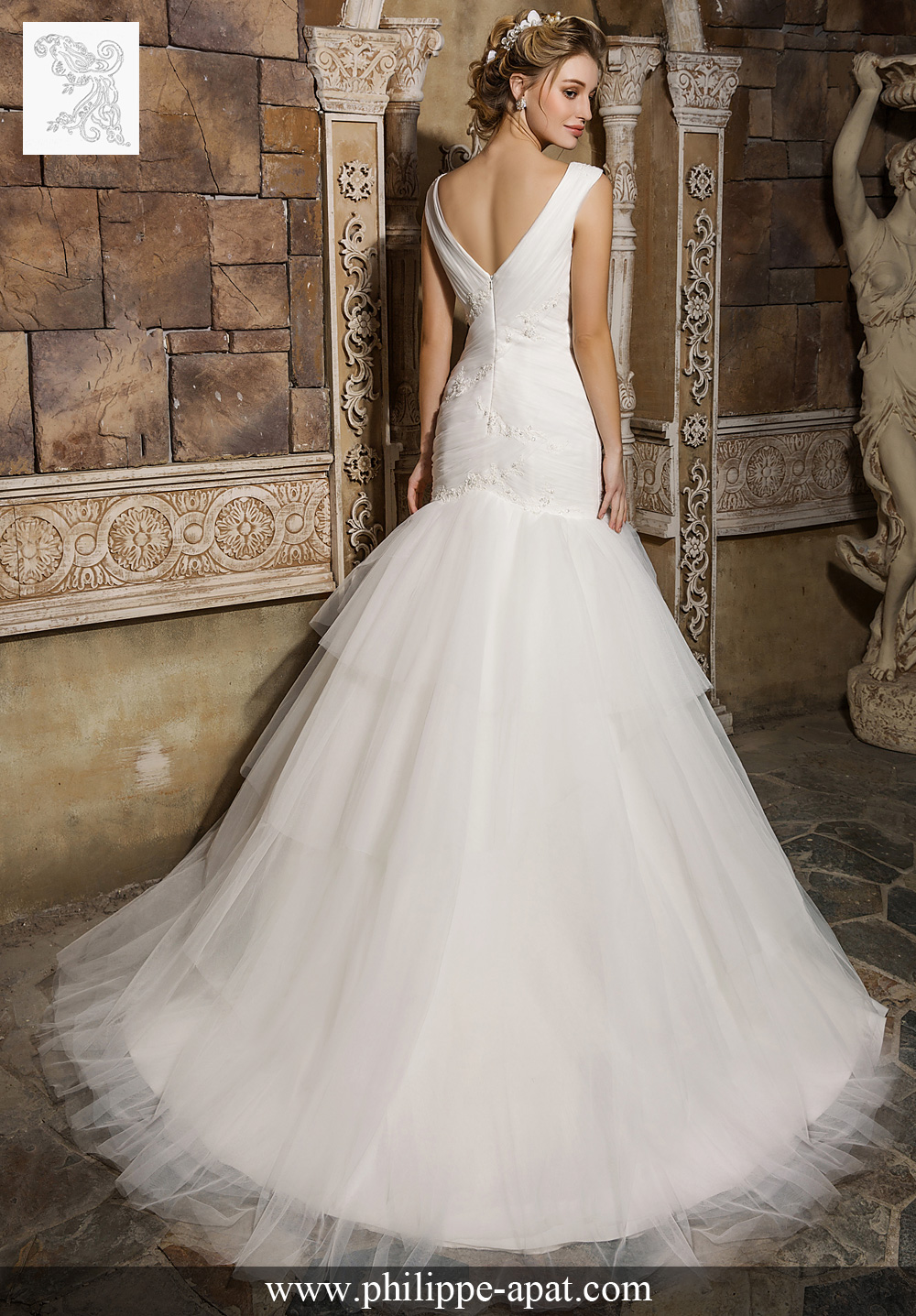 Robe blanche 2017 fit and flare Philippe Apat