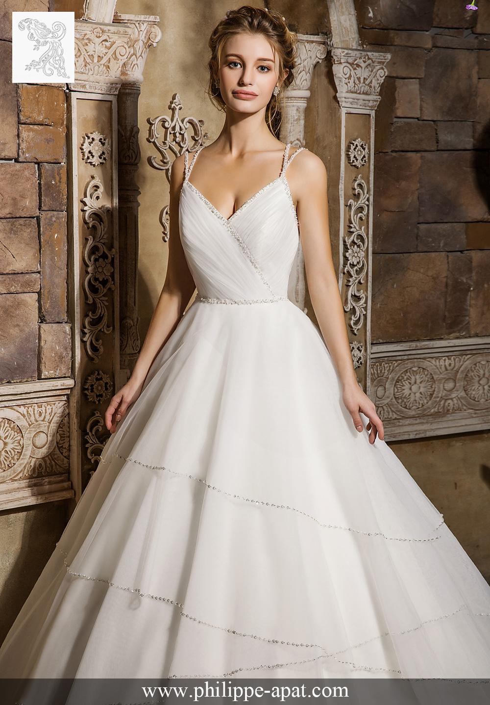 robe de mariée simone 2017 robe de mariée bustier à bretelles fines ...