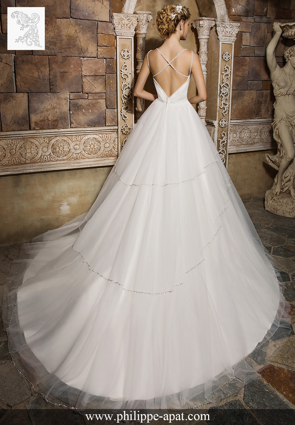 Robe de mariee blanche 2017 mariage Philippe Apat