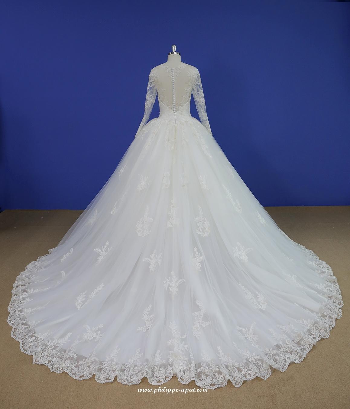 30e84f8ae07 Robe de Mariée 2019 Bustier longues 2020 dentelles blanches ...