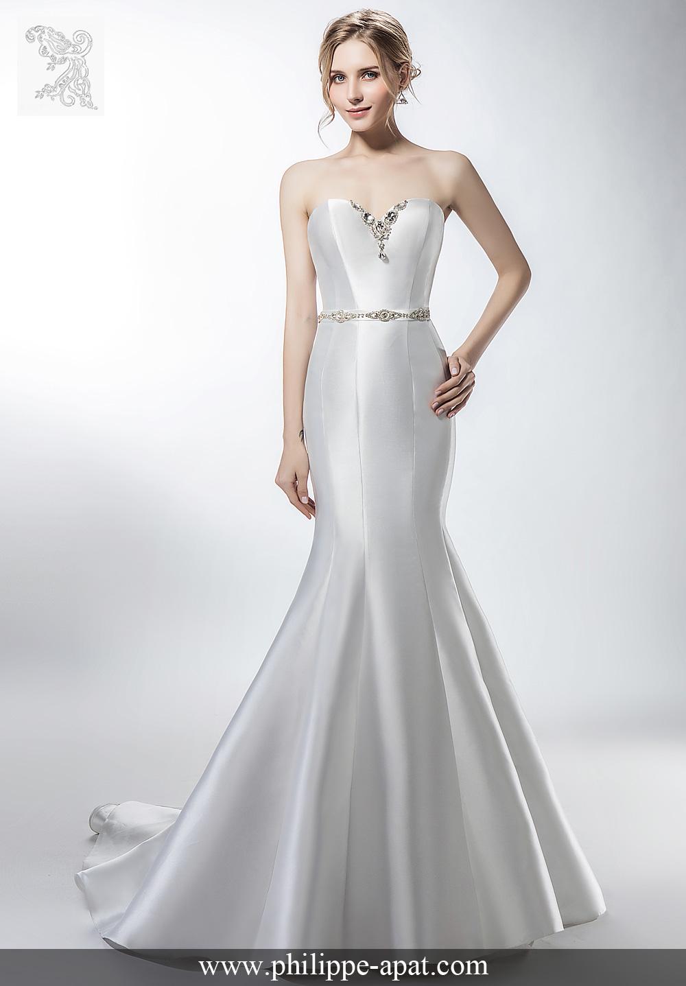 Robes de Mariée 2018 collection Philippe Apat modèles mariage soie ... 68e330b3a70