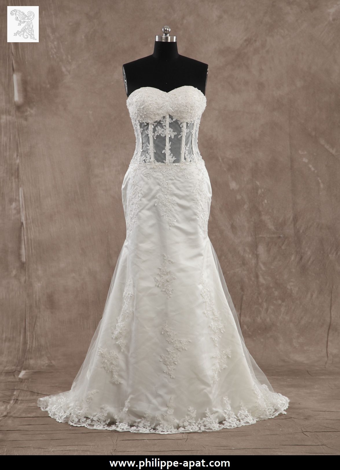 Robe de mariée bustier transparent 2016