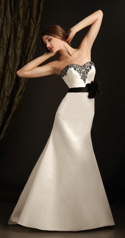 robes l gantes robe de mariee noire 2012. Black Bedroom Furniture Sets. Home Design Ideas