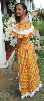 Robe Créole De Mariage Martinique Philippe Apat