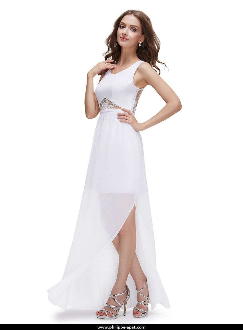 Robe de soiree blanc rose