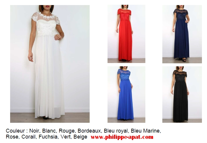 Robe cocktail blanche toulouse