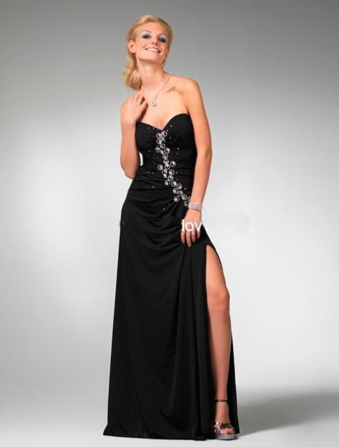 great blog robe robe soiree longue noire fendue. Black Bedroom Furniture Sets. Home Design Ideas