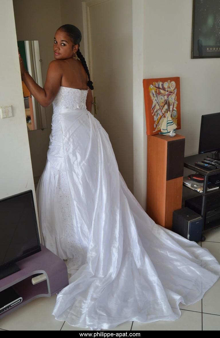 Robe de mariee 2018 en pagne